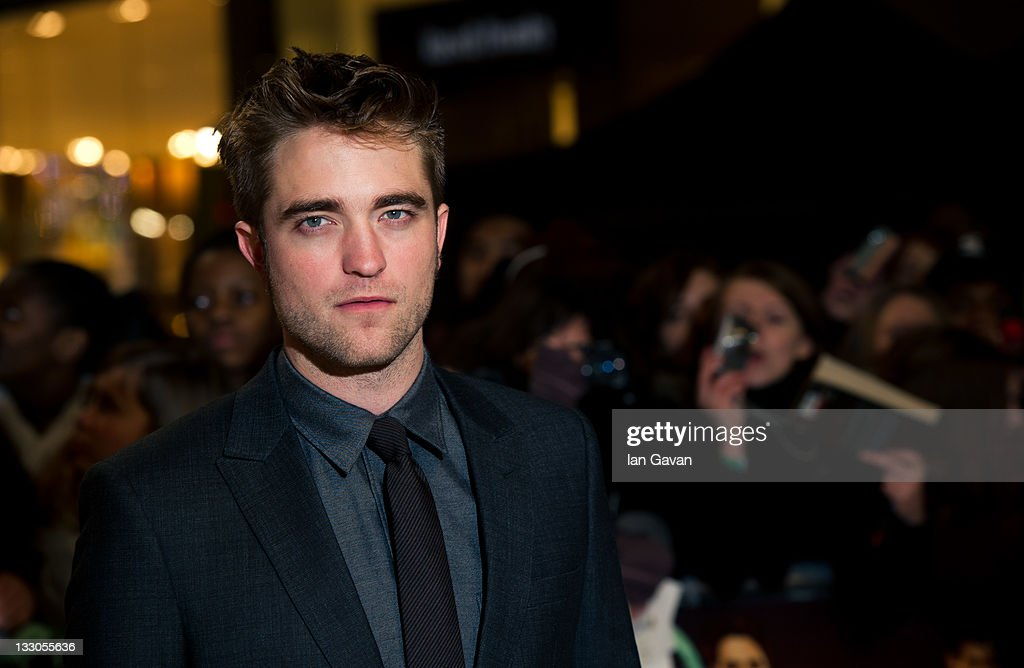 Robert Pattinson attends the UK premiere of The Twilight Saga Breaking Dawn Part 1 at Westfield Stratford City on November 16 2011 in London England