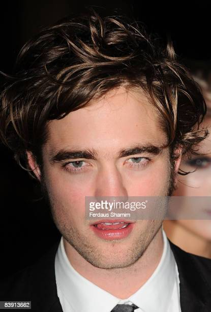 Robert Pattinson attends the UK Premiere of Twilight at Vue West End on December 3 2008 in London England