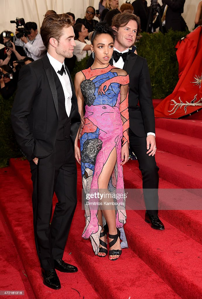 Robert Pattinson FKA twigs and designer Christopher Kane attend the 'China Through The Looking Glass' Costume Institute Benefit Gala at the...