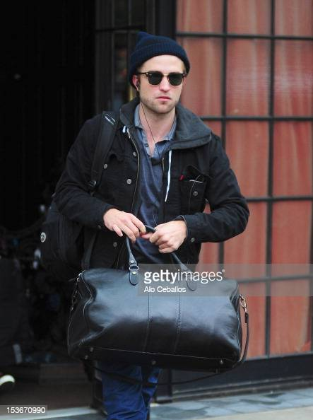 Robert Pattinson is seen in the East Village at Streets of Manhattan on October 8 2012 in New York City