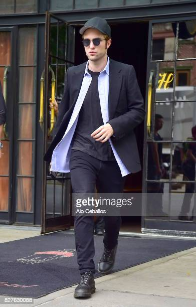 Robert Pattinson is seen in the East Village on August 8 2017 in New York City