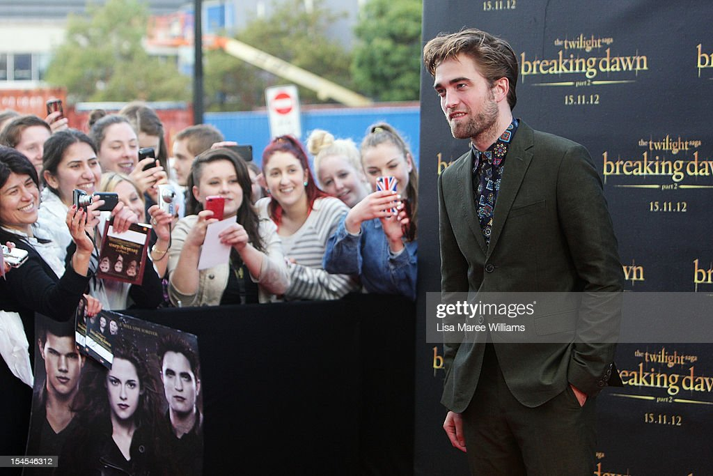 Robert Pattinson poses during a 'Breaking Dawn - Part 2' fan event at Fox Studios on October 22, 2012 in Sydney, Australia.