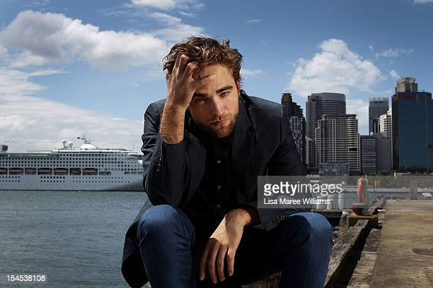 Robert Pattinson poses during a photo call to promote 'Breaking Dawn Part 2' on October 22 2012 in Sydney Australia