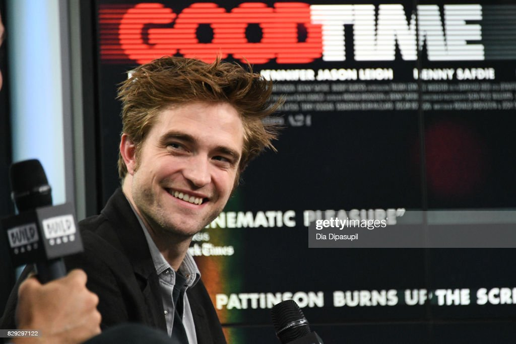 Robert Pattinson visits Build to discuss the film 'Good Time' at Build Studio on August 10, 2017 in New York City.