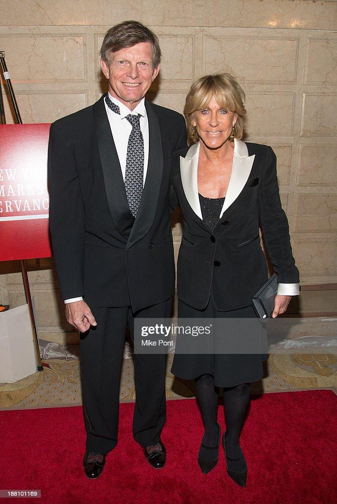 Robert Perkins and Joni Evans attend the 20th New York Landmarks Conservancy's Living Landmarks Ceremony at The Plaza Hotel on November 14, 2013 in New York City.