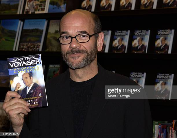 Robert Picardo who played the holographic doctor on 'Star Trek Voyager' signs copies of his new book 'Star Trek Voyager The Hologram's Handbook'