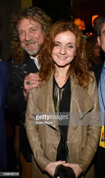 Robert Plant and Patty Griffin attend the after party for 'Led Zeppelin Celebration Day' at Monkey Bar on October 9 2012 in New York City The film...