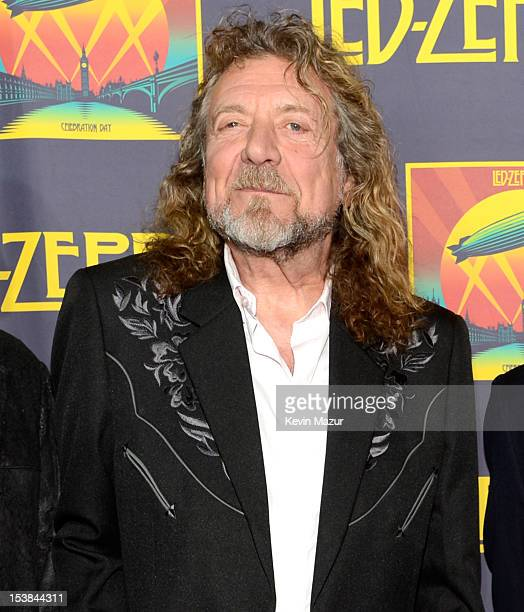 Robert Plant attends the premiere of 'Led Zeppelin Celebration Day' at Ziegfeld Theatre on October 9 2012 in New York City Led Zeppelin's John Paul...