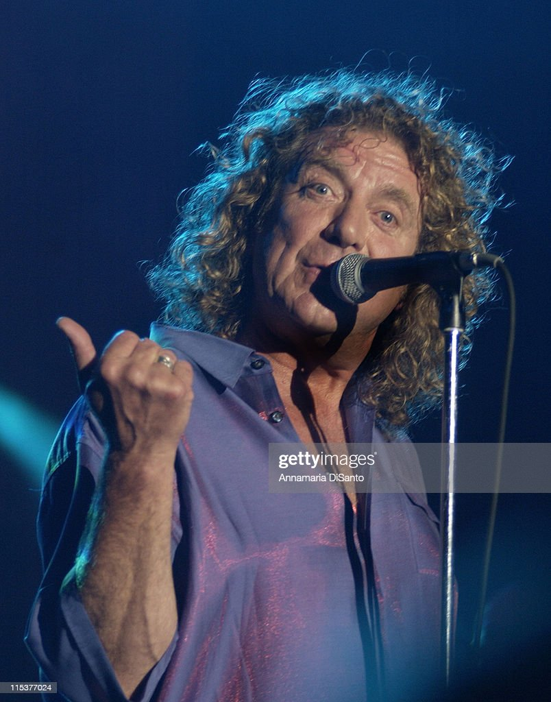 Robert Plant during Robert Plant Live Tour 2002 at Greek Theatre in Los Angeles, CA, United States.