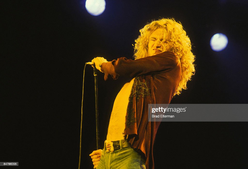Robert Plant from Led Zeppelin in concert circa 1979 in Los Angeles, California. **EXCLUSIVE**