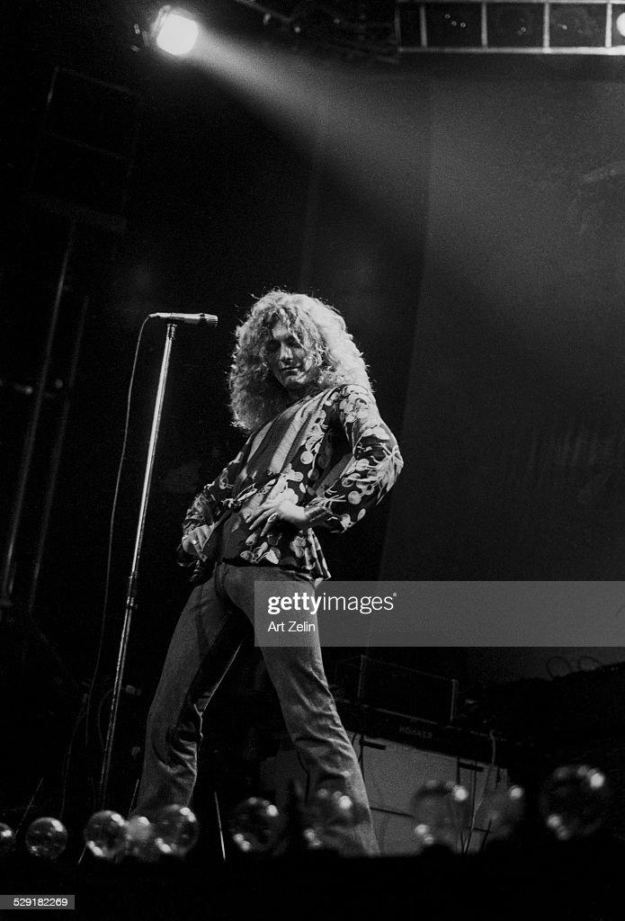 Robert Plant of Led Zeppelin in concert circa 1970 New York