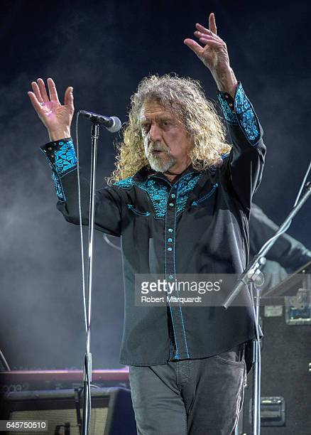 Robert Plant of Robert Plant and The Sensational Space Shifters performs in concert during Cruilla Festival 2016 on July 9 2016 in Barcelona Spain