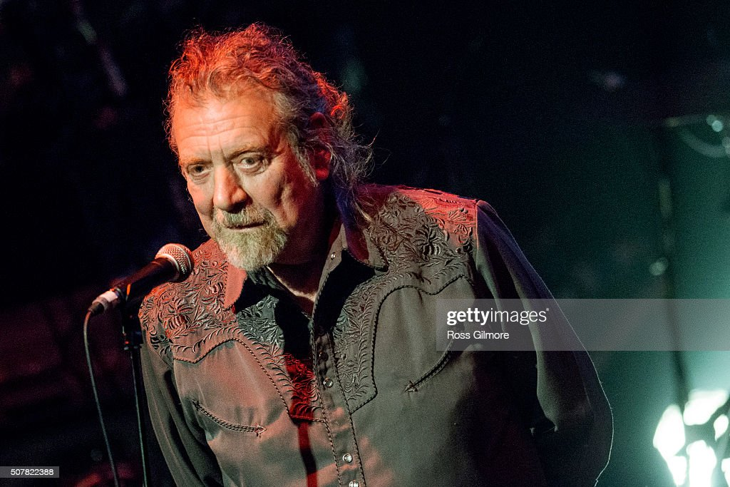 <a gi-track='captionPersonalityLinkClicked' href=/galleries/search?phrase=Robert+Plant&family=editorial&specificpeople=211368 ng-click='$event.stopPropagation()'>Robert Plant</a> performs at a concert for Bert Jansch at the Celtic Connections Festival at The Old Fruit Market on January 31, 2016 in Glasgow, Scotland.