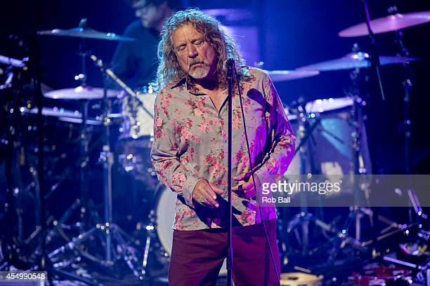 Robert Plant performs on stage for iTunes Festival at The Roundhouse on September 8 2014 in London United Kingdom