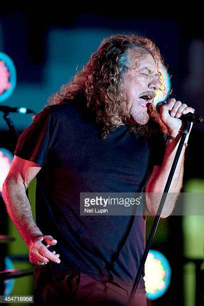 Robert Plant performs with his band the Sensational Space Shifters for The One Show Music Festival at BBC Broadcasting House on September 5 2014 in...