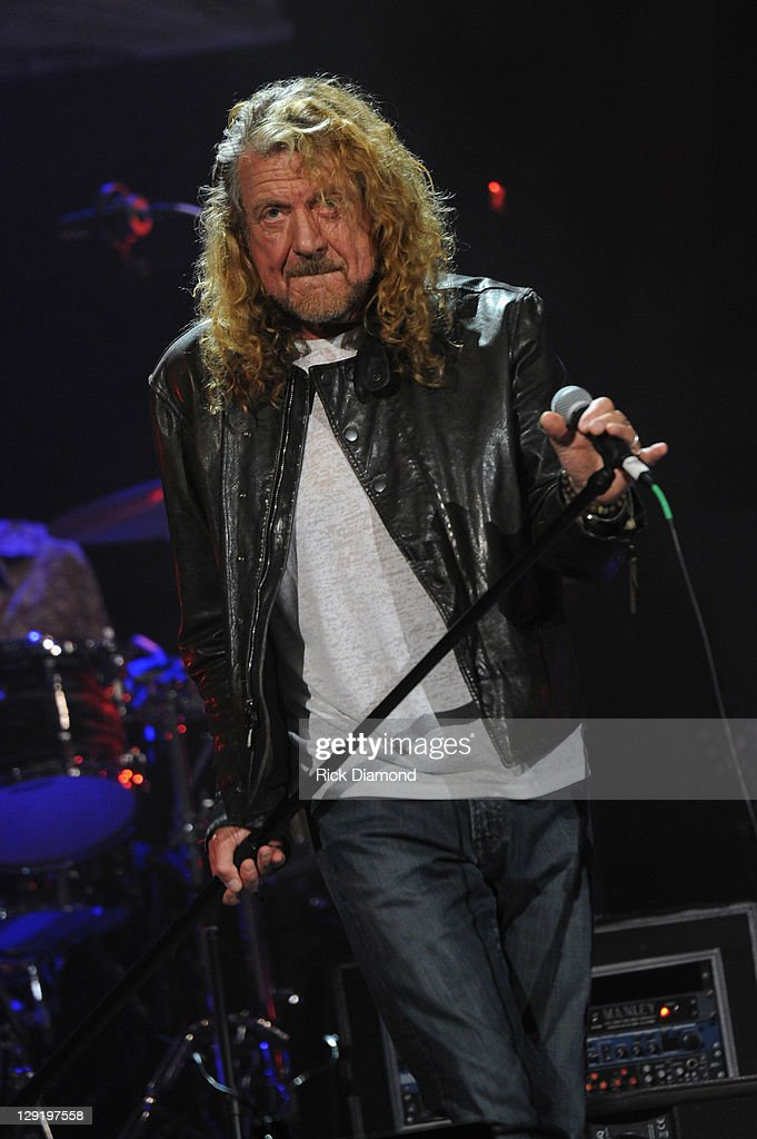 Robert Plant The Band of Joy performs during the 10th Americana Music Association honors and awards>> at the Ryman Auditorium on October 13 2011 in...