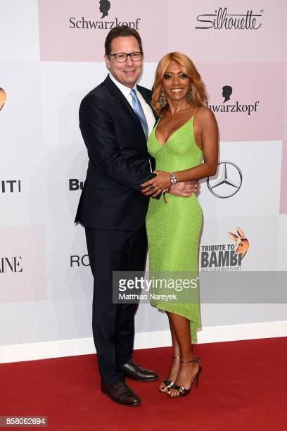 Robert Poelzer with his wife Vivien attend the Tribute To Bambi at Station on October 5 2017 in Berlin Germany