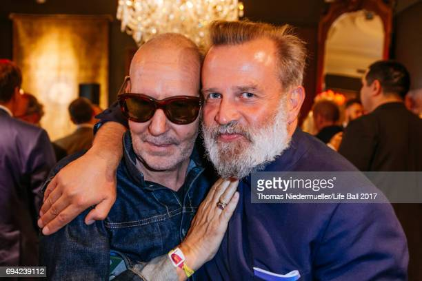Robert Rabensteiner and Photographer Michel Comte attend the Life Ball 2017 reception at Palais Szechenyi on June 9 2017 in Vienna Austria The Life...