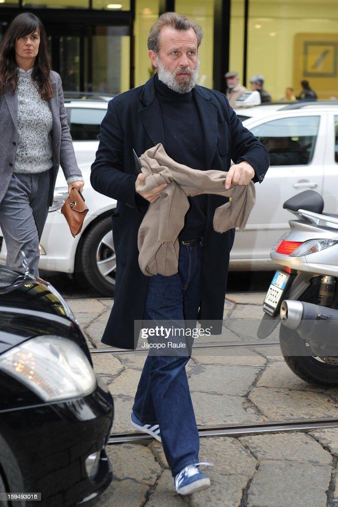Robert Rabensteiner arrives at Z Zegna during Milan Fashion Week Menswear Autumn/Winter 2013 on January 14, 2013 in Milan, Italy.