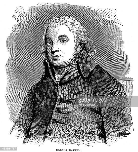 Robert Raikes English philanthropist and publisher Began Sunday School movement in his native Gloucester in 1780 Wood engraving London 1880