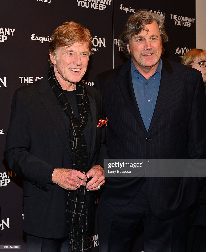 Robert Redford and Co-President of Sony Pictures Classics Tom Bernard attend 'The Company You Keep' New York Premiere at The Museum of Modern Art on April 1, 2013 in New York City.