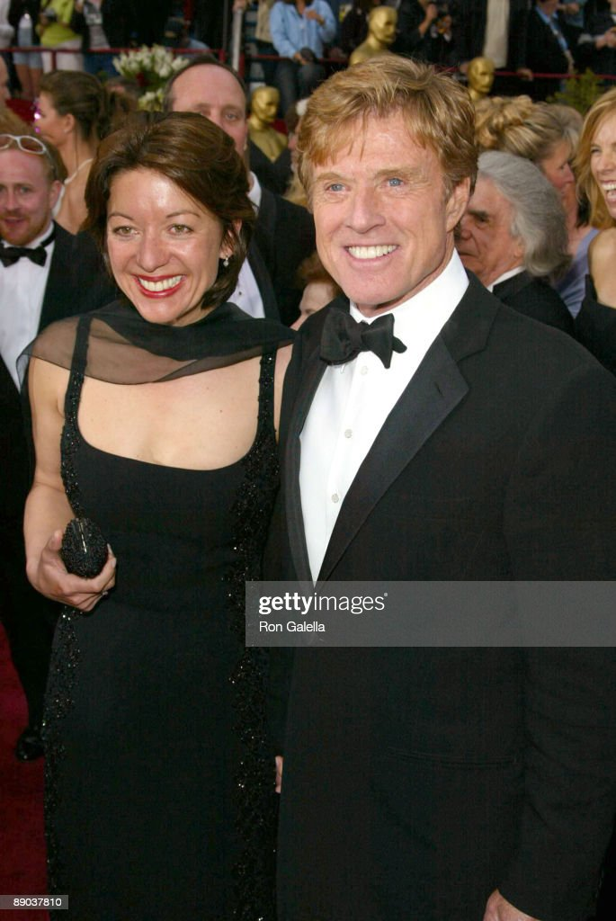 Robert Redford (R) and his girlfriend Sibylle Szaggars
