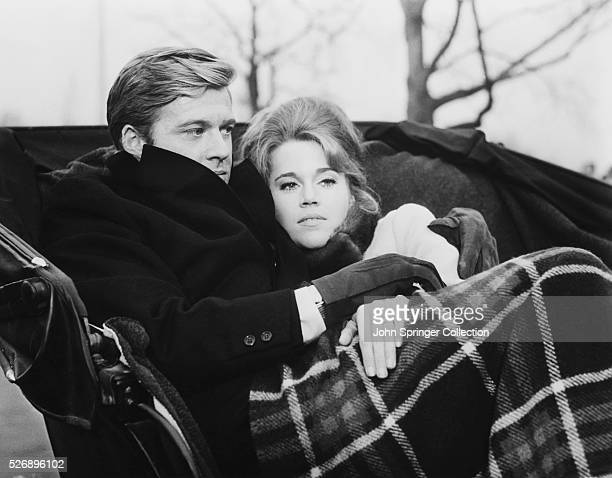 Robert Redford and Jane Fonda as Paul and Corie Bratter in the 1967 film Barefoot in the Park
