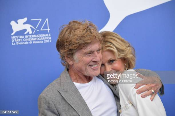 Robert Redford and Jane Fonda attend the 'Our Souls At Night' photocall during the 74th Venice Film Festival on September 1 2017 in Venice Italy