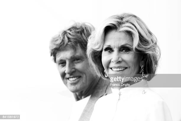 Robert Redford and Jane Fonda attend the 'Our Souls At Night' photocall during the 74th Venice Film Festival at Sala Casino on September 1 2017 in...