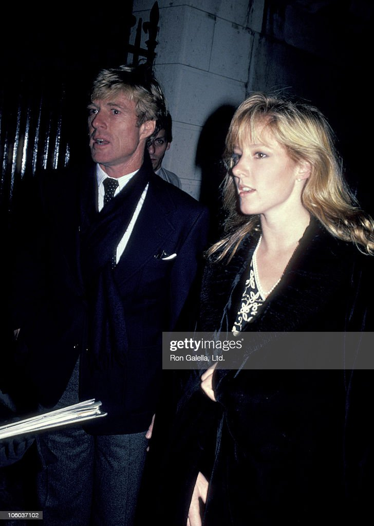 Robert Redford and Shauna Redford during Opening of 'Highlight Exhibit November 17 1983 at International Center of Photography in New York City New...
