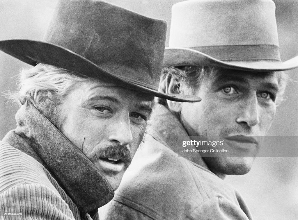 Robert Redford as Sundance Kid and Paul Newman as Butch Cassidy in the 1969 western Butch Cassidy and the Sundance Kid