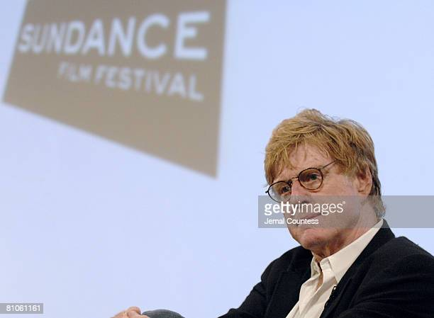Robert Redford at the Sundance Institute press conference to announce Sundance Film Festival's Global Short Film Project for Mobile Phones