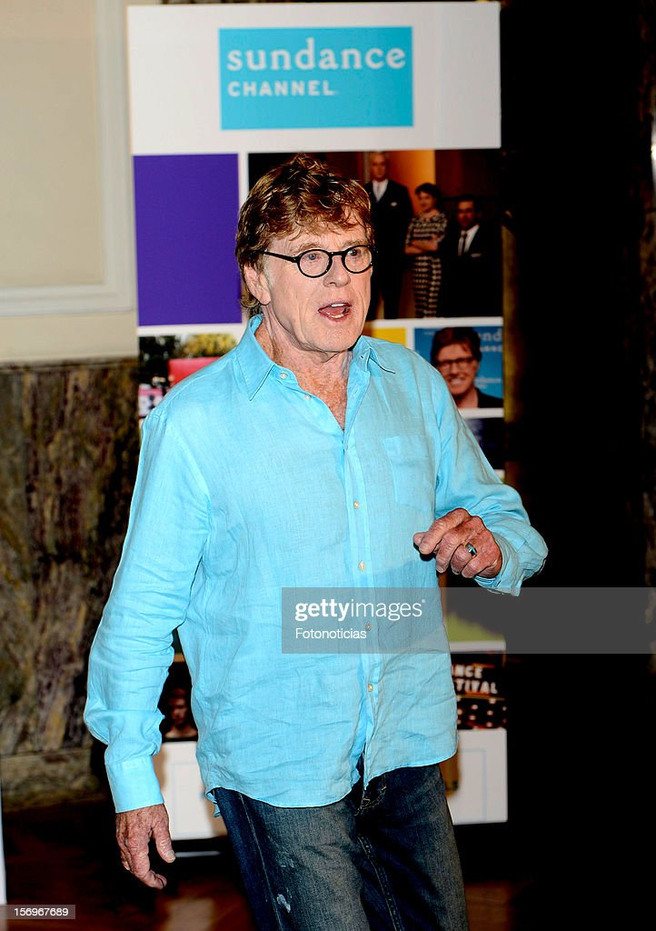 Robert Redford attends a photocall for Sundance Channel at The Ritz Hotel on November 26, 2012 in Madrid, Spain.