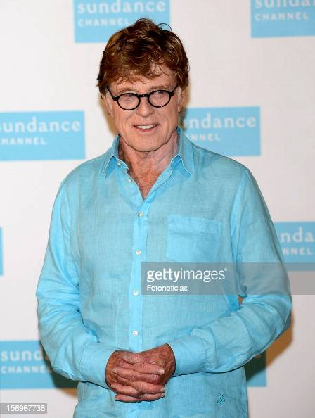 Robert Redford attends a photocall for Sundance Channel at The Ritz Hotel on November 26 2012 in Madrid Spain