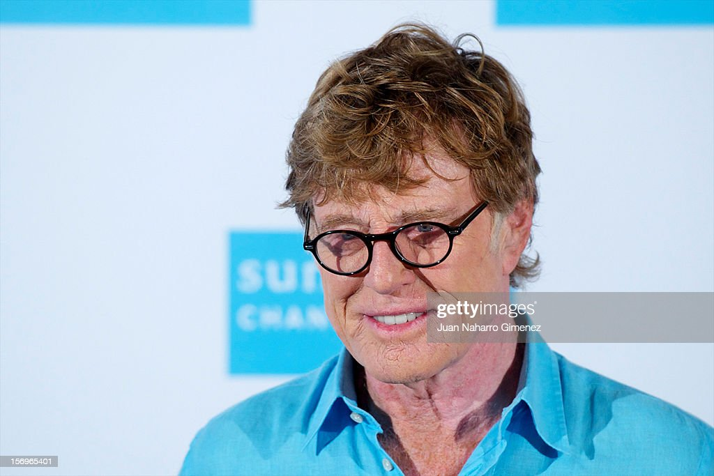 Robert Redford attends 'Sundance Channel' photocall at Ritz Hotel on November 26, 2012 in Madrid, Spain.
