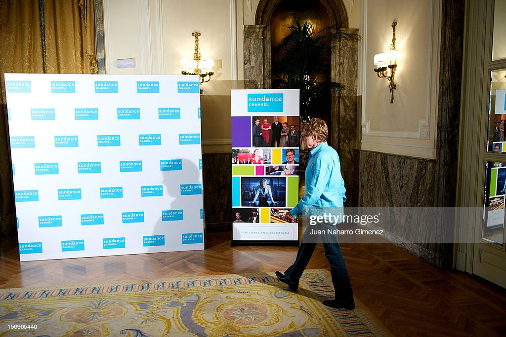<a gi-track='captionPersonalityLinkClicked' href=/galleries/search?phrase=Robert+Redford&family=editorial&specificpeople=202897 ng-click='$event.stopPropagation()'>Robert Redford</a> attends 'Sundance Channel' photocall at Ritz Hotel on November 26, 2012 in Madrid, Spain.