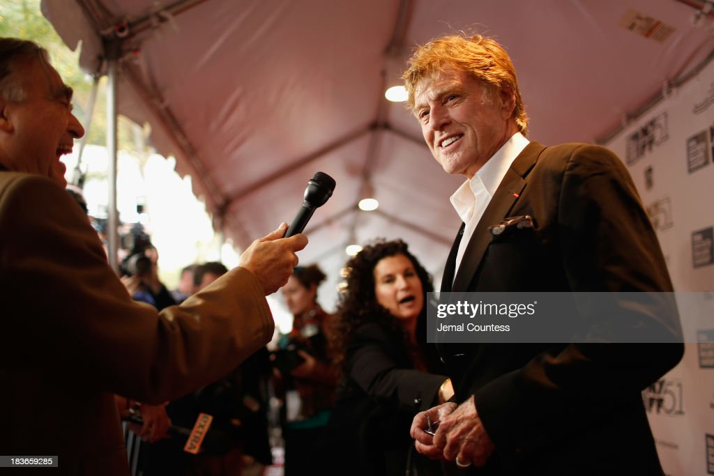 <a gi-track='captionPersonalityLinkClicked' href=/galleries/search?phrase=Robert+Redford&family=editorial&specificpeople=202897 ng-click='$event.stopPropagation()'>Robert Redford</a> attends the 'All Is Lost' premiere during the 51st New York Film Festival at Alice Tully Hall at Lincoln Center on October 8, 2013 in New York City.