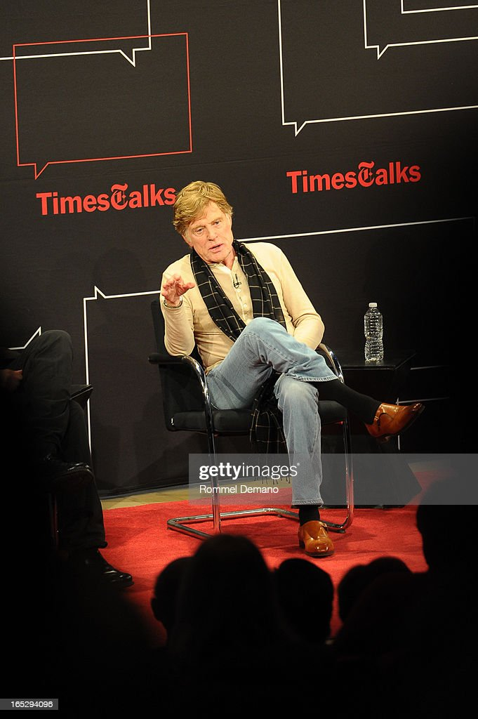 Robert Redford attends the TimesTalks Presents: 'The Company You Keep' at TheTimesCenter on April 2, 2013 in New York City.