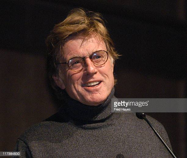 Robert Redford during 2004 Sundance Film Festival 'Riding Giants' Premiere at The Eccles in Park City Utah United States