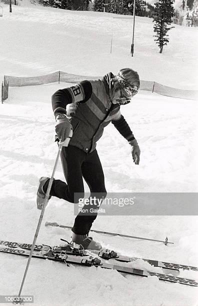 Robert Redford during Robert Redford Skiing in Utah December 23 1977 at Sundance Ski Slopes in Sundance Utah United States