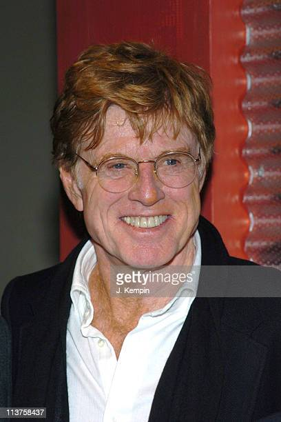 Robert Redford during Sundance Institute and the Brooklyn Academy of Music Announce Artistic Collaboration in Film Theatre and Music at Brooklyn...