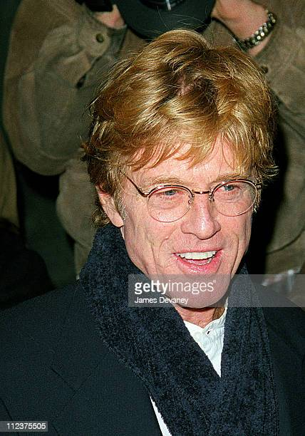 Robert Redford during 'The Legend Of Bagger Vance' New York Premiere October 29 2000 at Sony Lincoln Square Theater in New York NY United States