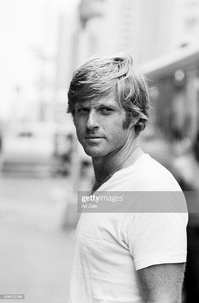 Robert Redford filming Three Days of the Condor circa 1970 New York