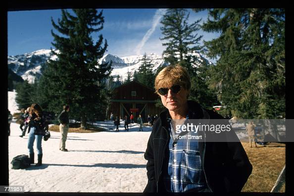 Robert Redford poses for a picture at the Sundance Film Festival January 21 1994 in Salt Lake City Utah Redford is master of ceremony at the festival...