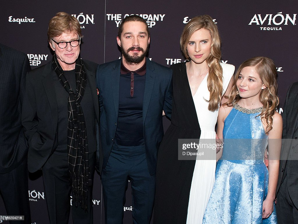 Robert Redford, Shia LaBeouf, Brit Marling, and Jackie Evancho attend 'The Company You Keep' New York Premiere at The Museum of Modern Art on April 1, 2013 in New York City.