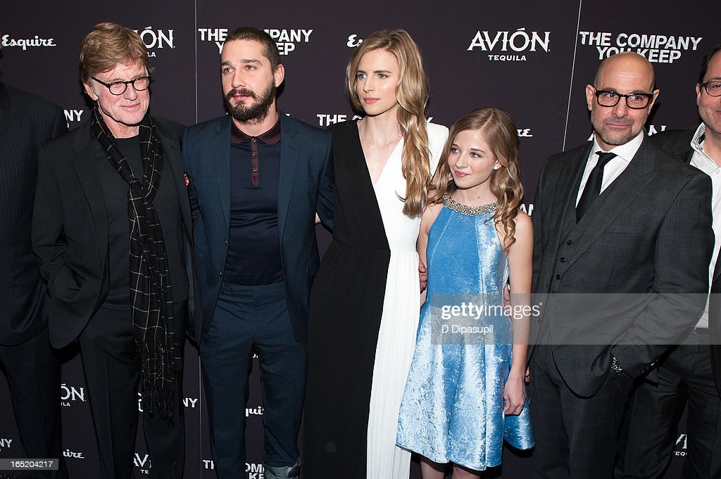 Robert Redford, Shia LaBeouf, Brit Marling, Jackie Evancho, and Stanley Tucci attend 'The Company You Keep' New York Premiere at The Museum of Modern Art on April 1, 2013 in New York City.