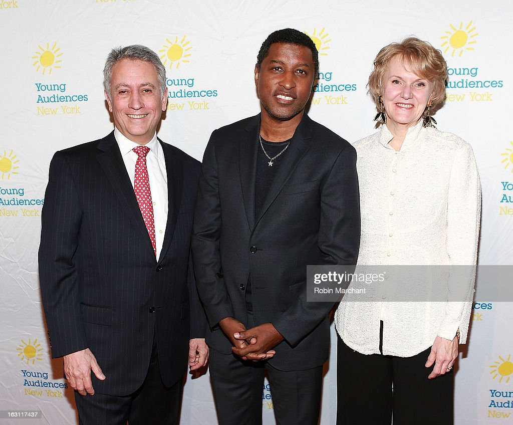 Robert Riesemberg, Kenneth 'Babyface' Edmonds and Kim Greenberg attend the 2013 Children's Arts Award Benefit at Cipriani Wall Street on March 4, 2013 in New York City.