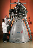 Robert Rocher is assisted by Christophe Rothmund during the final test prototype for the new Ariane 5 first stage cryogenic rocket engine Vulcain |...