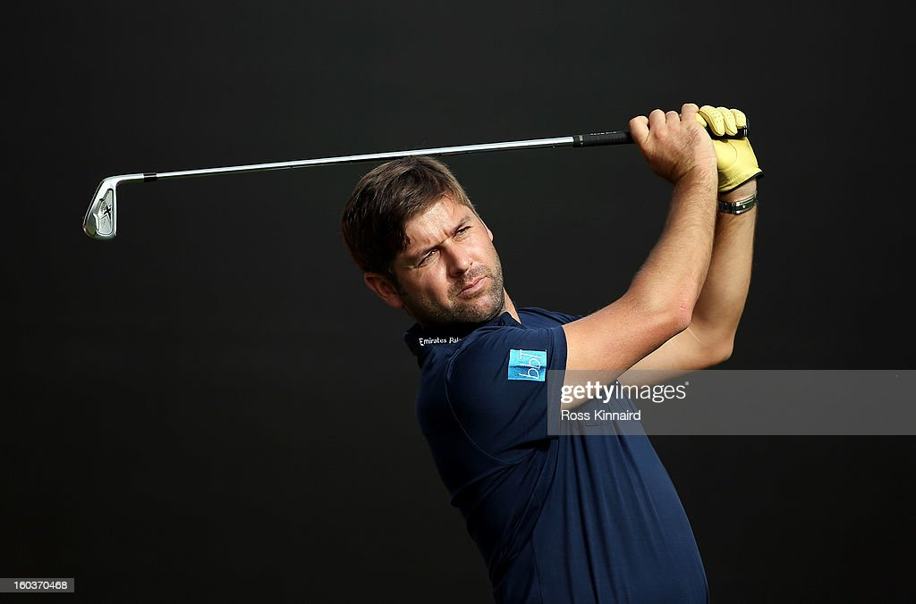 Robert Rock of England during the pro-am event prior to the Omega Dubai Desert Classic on January 30, 2013 in Dubai, United Arab Emirates.