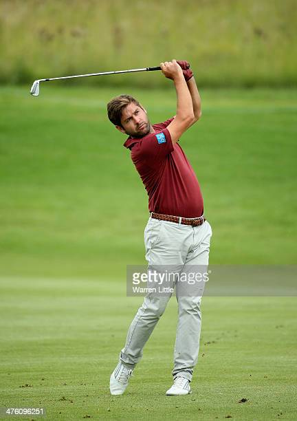 Robert Rock of England in action during the final round of the Tshwane Open at Copperleaf Golf Country Estate on March 2 2014 in Centurion South...